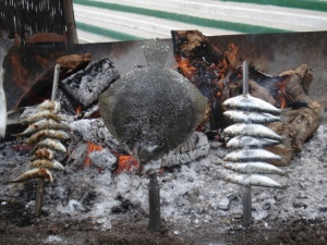 Fresh Fish-grilled over an open fire