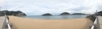 Panorama of Donostia Beaches