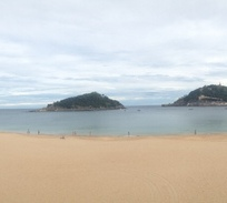 Panorama of Donostia Beaches
