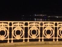 Iron railing on the La Concha Promenade