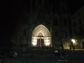 Cathedral square at night