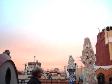 From the roof of Palau Guell