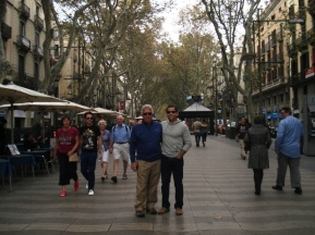 Ray and Rick on La Rambla