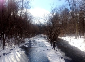 Williams River, Massachusetts, after the December snow storm