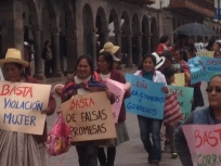 political protest in Cusco
