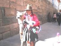 Quechua woman with alpaca