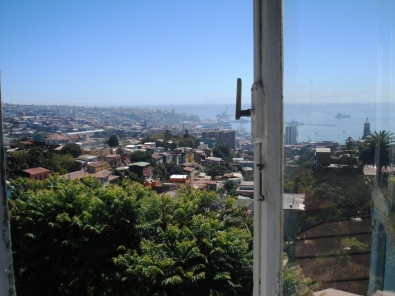 View from Neruda's living room --La Sebastiana in Cerro Bellavista