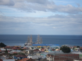 tall ships in the harbor